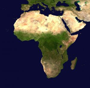 africa, continent, aerial view