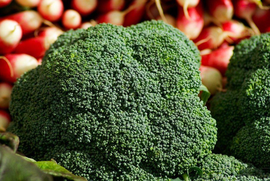 broccoli, radish, vegetables