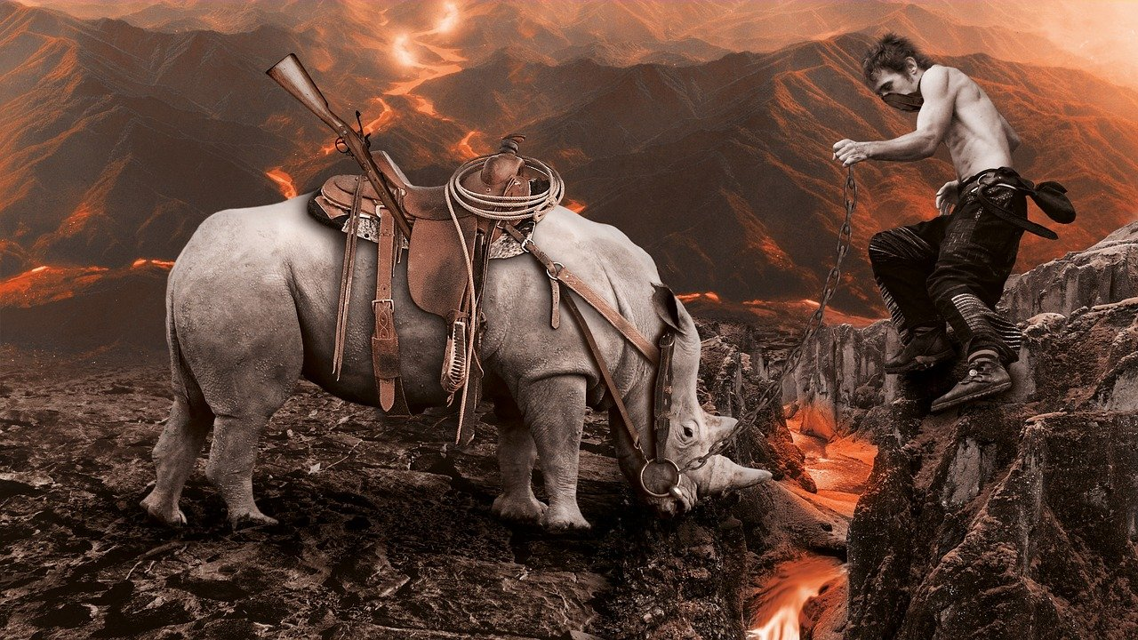 volcano, lava, embers