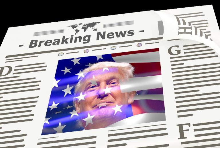 newspaper, news, trump